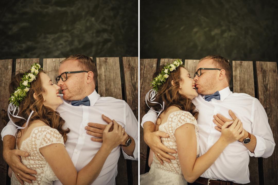zdjęcia ślubne na kładce