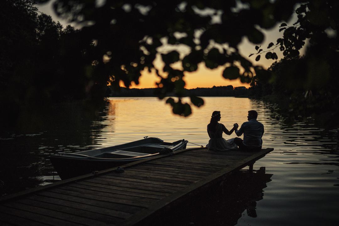 zdjęcia ślubne jezioro