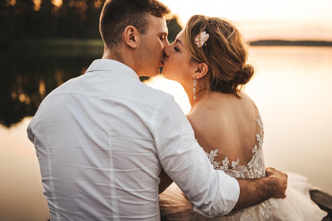 sesja ślubna jezioro mazury
